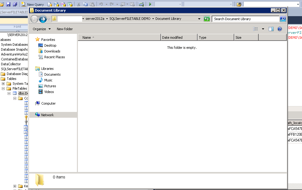 File Table in SQL Server 2012  - Great flexibility to manage filestream data (3/6)