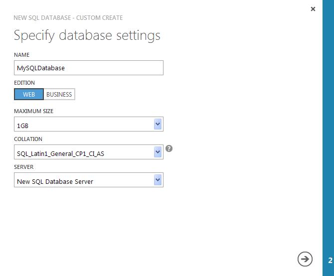 slot setting option database azure