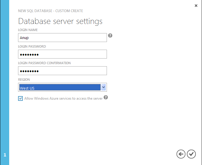 SQLSailor is exploring(Part1) - Creating my first SQL Database on Windows Azure (5/6)