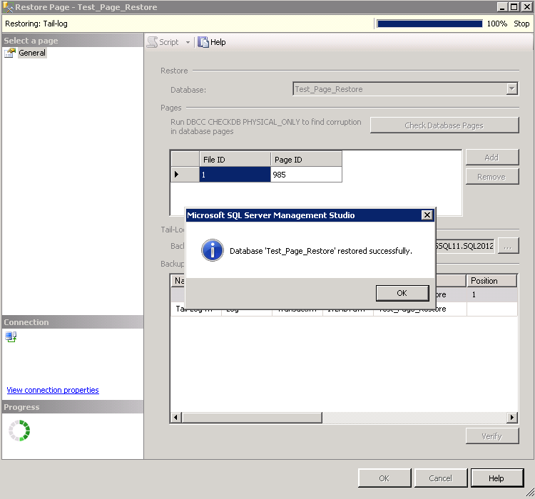 Page restore – Smart utility within SSMS ! | SQLSailor