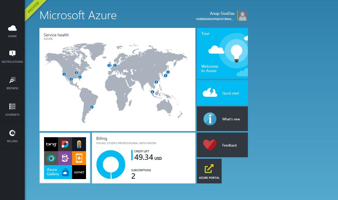 Microsoft Azure Portal Preview looks promising
