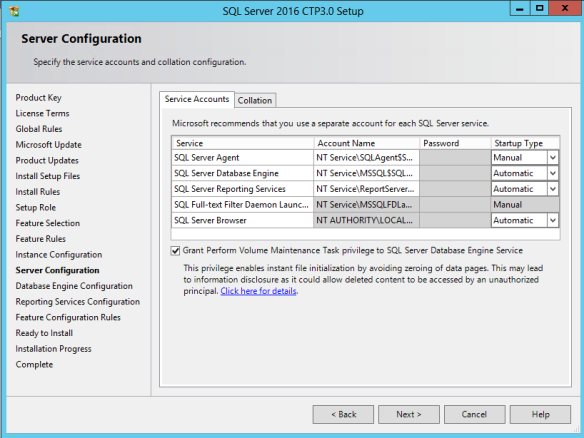 SQL Server 2016 CTP 3 Setup – UI Improvements | SQLSailor